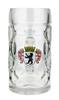 Traditional German Berlin Oktoberfest Glass Beer Mug 0.5 Liter