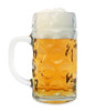Collectible Dimpled Glass Beer Mug 0.5 Liter