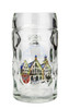Personalized German Mass Krug with Picture of Frankfurt, Hand Painted Accents