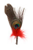 Peacock Feather Hat Pin