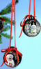 Front and Back Hand Painted Ceramic Christmas Ornament Decoration