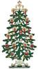 German Pewter Christmas Tree Decoration - Free Standing