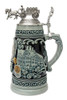 Handmade cobalt beer stein with lid