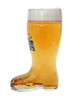 German .5 liter boot glassware side view