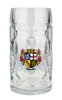 Traditional 0.5 Liter German Mass Krug with Saarland Crest