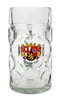 Traditional Rheinland Pfalz Crest on 1 Liter German Beer Mug