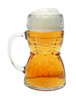 Rear of Glass Dirndl Mug Full of Beer Showing Bow