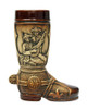 .5 Liter Ceramic Boot with Traditional German Scenes