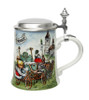 Authentic Porcelain German Beer Stein with Lid