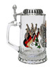 Glass Beer Stein with Traditional Deutschland Eagle