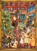 Christmas Card Includes 24 Little Doors to Open