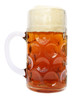 Dimpled Oktoberfest Glass Beer Mug 1 Liter