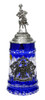 Lord of Crystal German Knight Beer Stein Blue