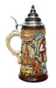 Oktoberfest Oompah Band Beer Stein Brown Rustic