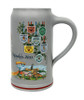 Left Side of One Liter 2011 Schutzenliesl Wirtekrug Beer Mug Showing Beer Tent Logos