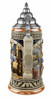 Authentic ceramic German beer stein with lid
