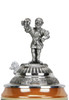 Beer brewer pewter figurine lid