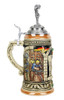 Authentic ceramic beer stein commemorating the 1516 German beer purity law