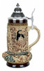 Ceramic Beer Stein with Pewter Lid for Wedding