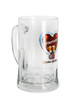 Oktoberfest Glass Beer Mug with Handle