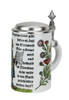 Celebrate German Beer purity with this commemorative porcelain beer stein