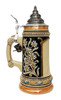 Edelweiss Beer Stein with Gold Accents