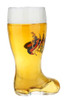 Eagle and Flags Glass Beer Boot Mug with Personalized Engraving Option
