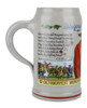 Traditional Ceramic Wirtekrug Beer Mug