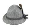German Wool Hat with HB Hofbrauhaus Gamsbart Hat Pin