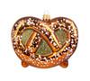 Hand Painted Traditional German Glass Pretzel Christmas Ornament