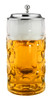 German Glass Beer Mug with Handle