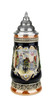 Hand=Painted German Stein of Rothenburg in Gilded Heart