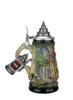 Hand-Painted Mini German Stein with Rustic Finish 4.2 oz