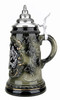 Bavaria Pewter Lion Crest Beer Stein