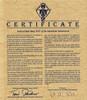 Certificate for Wirtekrug Oktoberfest Beer Stein