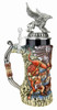 Griffin Beer Stein with 3D Griffin Pewter Lid