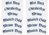 Sheets of beer style stickers - included
