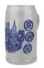 Munich Breweries 1 Liter Salt Glaze Stoneware Beer Mug