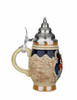 4.2oz German Beer Stein with Hand-Painted Decoration