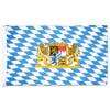 Bavarian Lion Crest and Diamond Pattern Flag 3' x 5'