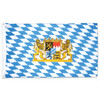 Bavarian Lion Crest and Diamond Pattern Flag 3' x 5'