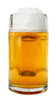 Front View Styria Smooth Body Glass Beer Mug  0.5 Liter