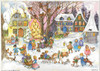 Country Winter Village German Advent Calendar