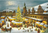 Large German Advent Calendar Depicts Leipzig Christmas Market