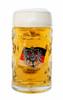 .5 Liter German Flag with Eagle Crest Glass Beer Mug Filled with Beer
