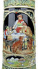 12 Liter Gold Multi-Color Beer Stein with Dancing Bavarian Couple Lid