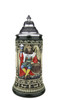 .3 Liter Hand Painted German Beer Stein of King Gambrinus