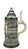 Rustic Green Glaze .3 Liter Hand Painted German Beer Stein