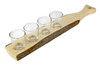 German Wooden Shot Glass Paddle Small