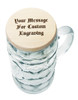 Custom Text Wood Beer Mug Cover on 1L Mug (mug not included)